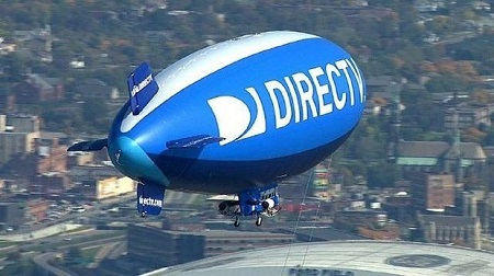 Airships like the DirecTV blimp, which provided aerial coverage during the 2013 Super Bowl in New Orleans, will not be seen over MetLife Stadium for the next Super Bowl because of weather concerns  Photo: DirecTV