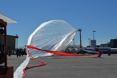 Envelope of the balloon being unfolded. Credit- CSA