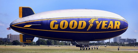 01The ground crew members prepare The Spirit of Goodyear for a flight. The Pompano Beach Airship Base will be the first to be home to two blimps for an extended time period: The Spirit of Goodyear and The Spirit of Innovation. Photo: Mike Stocker / Sun Sentinel