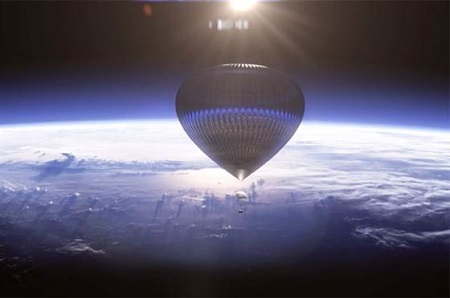 The World View balloon is to be made from high-performance polyethylene film.  Image: World View Enterprises