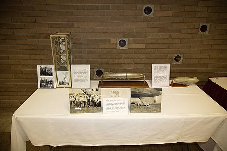 Several of the items from the collection of The Lighter-Than-Air Society were on display at the event. Photo: Dave Wertz