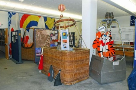 The National Balloon Museum has several large display areas filled with artifacts and displays about the sport and science of ballooning. Photo: Terry Turner