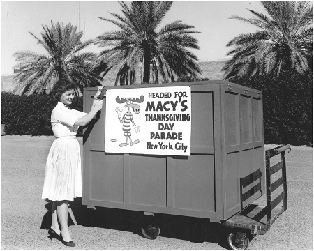 Bullwinkle, crated and ready to go in Goodyear, Arizona. Photo: The Lighter-Than-Air Society Collection