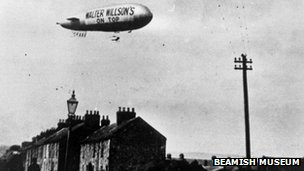 Walter Willson's advertising campaign would have been a real eye-opener. This picture was taken above Tudhoe Village. Photo: BBC.co.uk/Beamish Museum