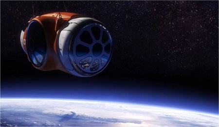 Passengers will be treated to a view of the Earth's curvature. Image: courtesy of WVE