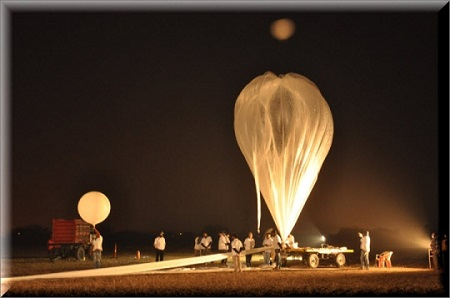 The balloon was launched at 0402 hours IST of January 7th 2014 from Balloon Facility campus located near Moula-Ali.