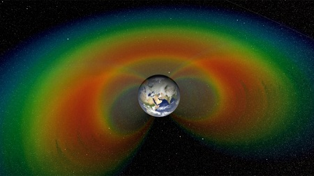Two giant donuts of radiation, called the Van Allen Belts, surround Earth. A NASA-funded balloon campaign in Antarctica launched in December 2012 and December 2013 is studying what causes bursts of particles to precipitate out of the belts down to Earth. Image Credit: NASA/Goddard/Scientific Visualization Studio