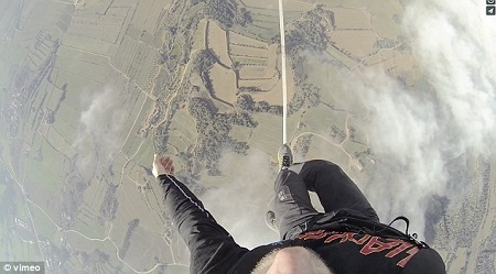 It's incredible the Skyliners can take any steps at all. Photo: vimeo/Sébastien Montaz-Rosset