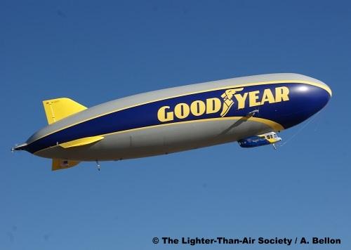 The airship begins it flight and starts to circle the Wingfoot Lake Blimp Base. Photo: A. Bellon - LTAS