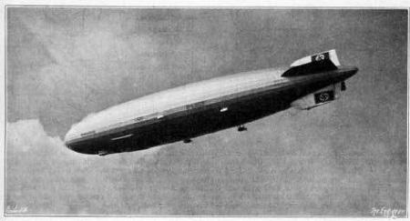 The Hindenburg in flight
