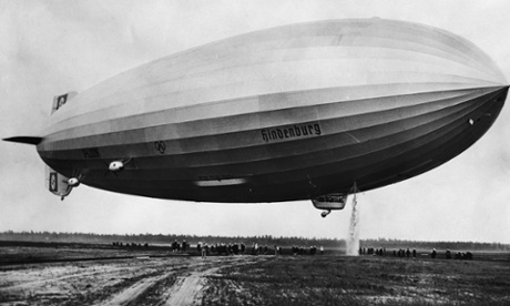 The Hindenburg in Lakehurst, New Jersey, USA, ca. 1936. Photograph: Hulton-Deutsch Collection/CORBIS