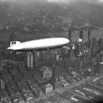 Hindenburg over Manhattan May 6, 1937, hours before bursting into flames at Lakehurst NJ (AP Photo)450