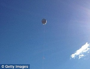 The 'blimp in a box' above the Pocono Mountains. Photo courtesy of The Daily Mail