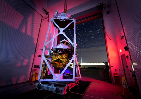 NASA¹s Balloon Observation Platform for Planetary Science, shown during testing at the Johns Hopkins Applied Physics Laboratory.  Image Credit: NASA/JHUAPL