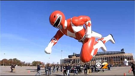 Red Power Ranger. Image: Courtesy CBS2 New York
