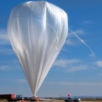 The uppermost part of the BalloonSat project´s balloon is filled with helium sq