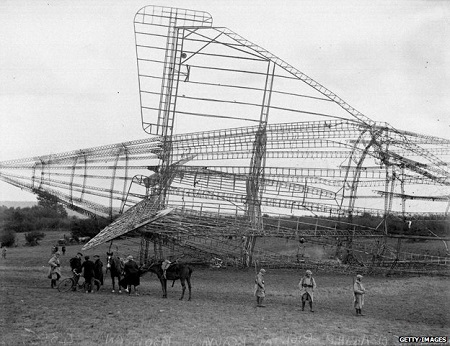 Wreckage from the R101 crash site in Beauvais, France. Photo courtesy of BBC.com