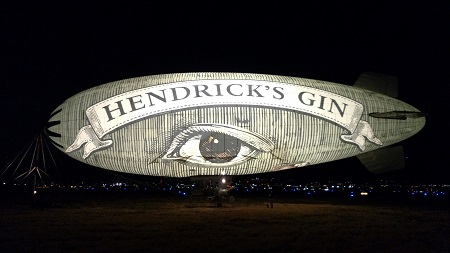 The Hendricks Airship illuminated. Source: Hendrick's Gin