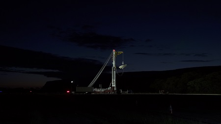 Night view of launch preparation. Source: phys.org