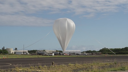 Crews from the Columbia Scientific Balloon Facility prepare the balloon for flight for the 2014 NASA Low Density Supersonic Decelerator test from the U.S. Navy Pacific Missile Range Facility on Kauai, Hawaii.  Credit: NASA/Bill Rodman