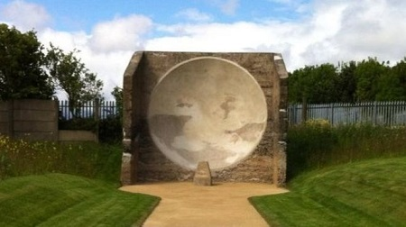 Left to deteriorate, the mirror has now been restored after a £68,000 revamp. Photo credit: BBC News