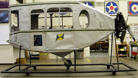 The gondola of the Pilgrim is on display at the Smithsonian's Steven F. Udvar-Hazy Center in Chantilly, VA Photo courtesy of the Smithsonian Institute