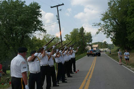 the Noble County Color Guard performed the gun salute. Photo: Alvaro Bellon