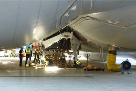 Fuel tank being fitted. Photo courtesy of Bedfordshire on Sunday