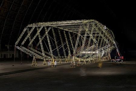 Truss/main frame assembly (2011) . Image courtesy of Aeroscraft Corp.
