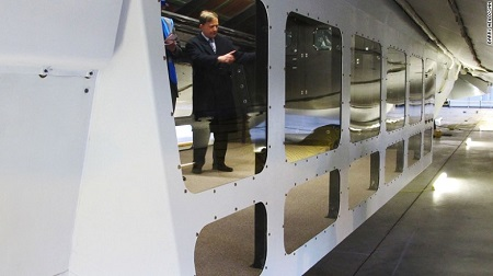 Airlander's creators say it could carry people for safaris in its windowed lounge. Source: CNN