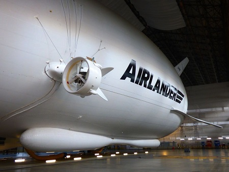 The airship/plane is 92m (302ft) long, 15m (50ft) longer than the biggest passenger jets. Source: Airways News