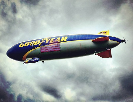 Shoutout to blimp fan Brian Corbin for this epic shot of Wingfoot Two. Photo: Goodyear Blimp/Facebook