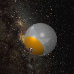 Space-based large balloon reflector