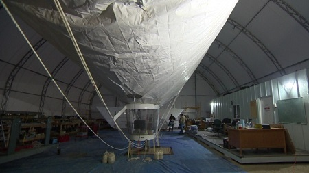 This experimental airship was shown to volunteers at St. Andrews Airport outside Winnipeg in October 2015. Source: CBC.