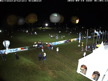 Screen shot of the live webcam broadcast of the launch from Gladbeck, Germany. Credit: GordonBennett.aero